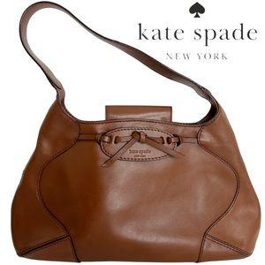 Kate Spade Brown Leather Shoulder Bag Satchel   Medium Size